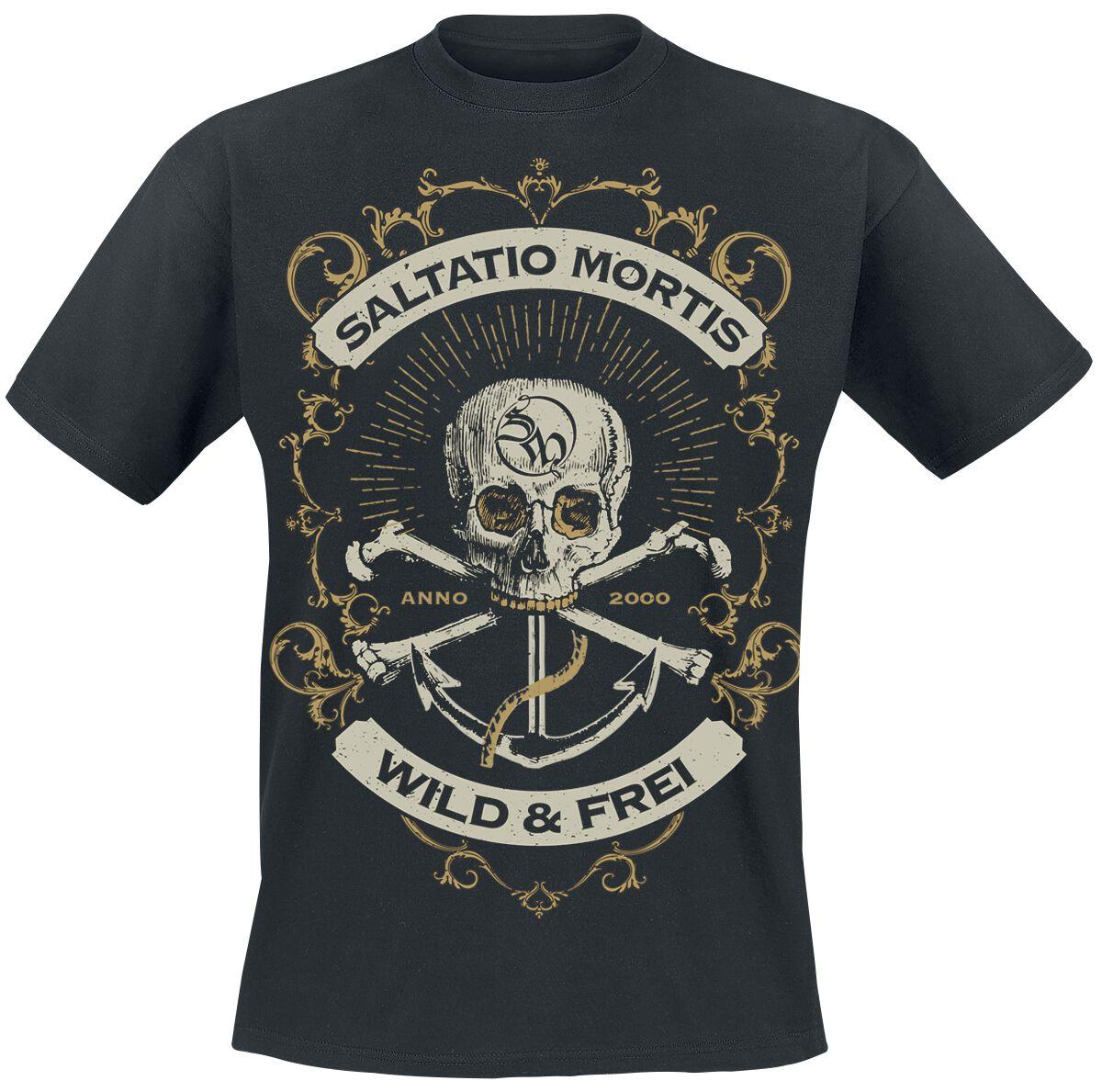 Zespoły - Koszulki - T-Shirt Saltatio Mortis Anchor Skull T-Shirt czarny - 376026