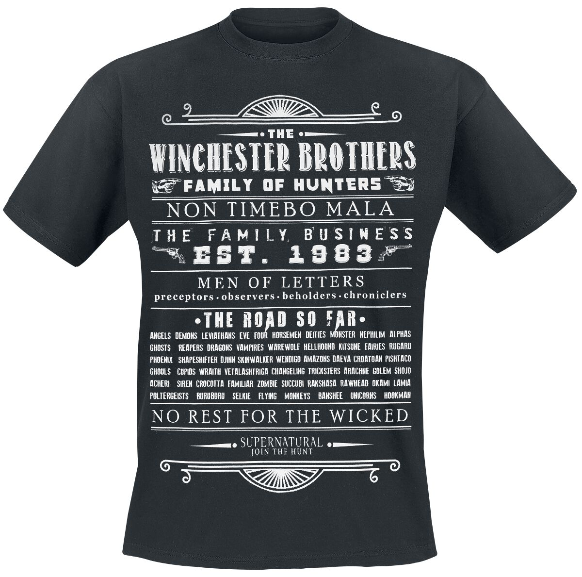 Image of   Supernatural Winchester Brothers T-Shirt sort