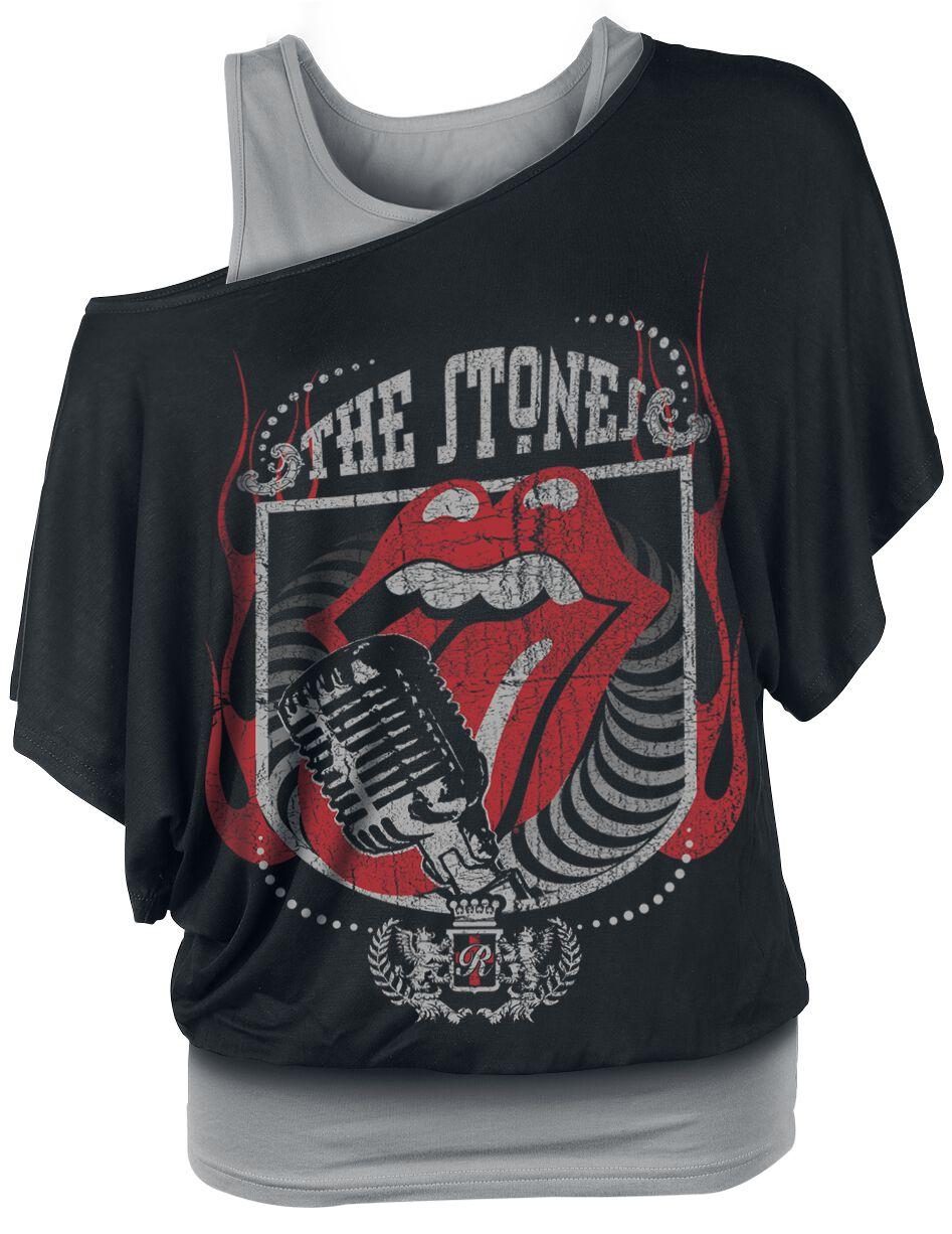 Image of   The Rolling Stones 40 Licks Girlie trøje sort-grå