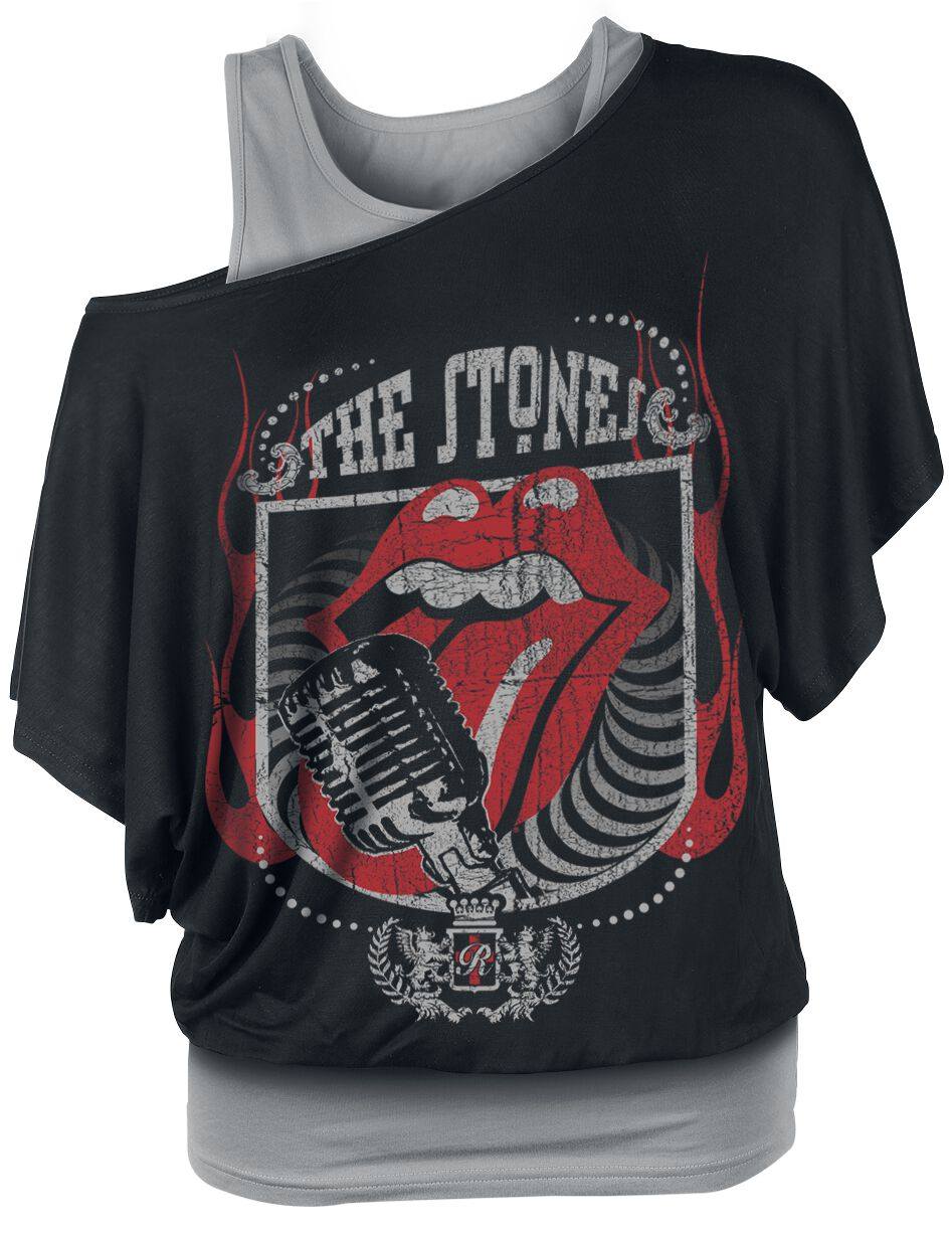 The Rolling Stones 40 Licks Koszulka damska czarny/szary