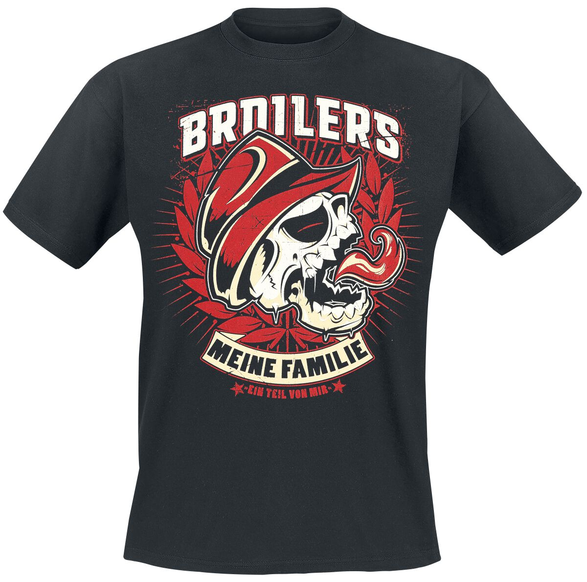 Image of   Broilers Meine Familie T-Shirt sort