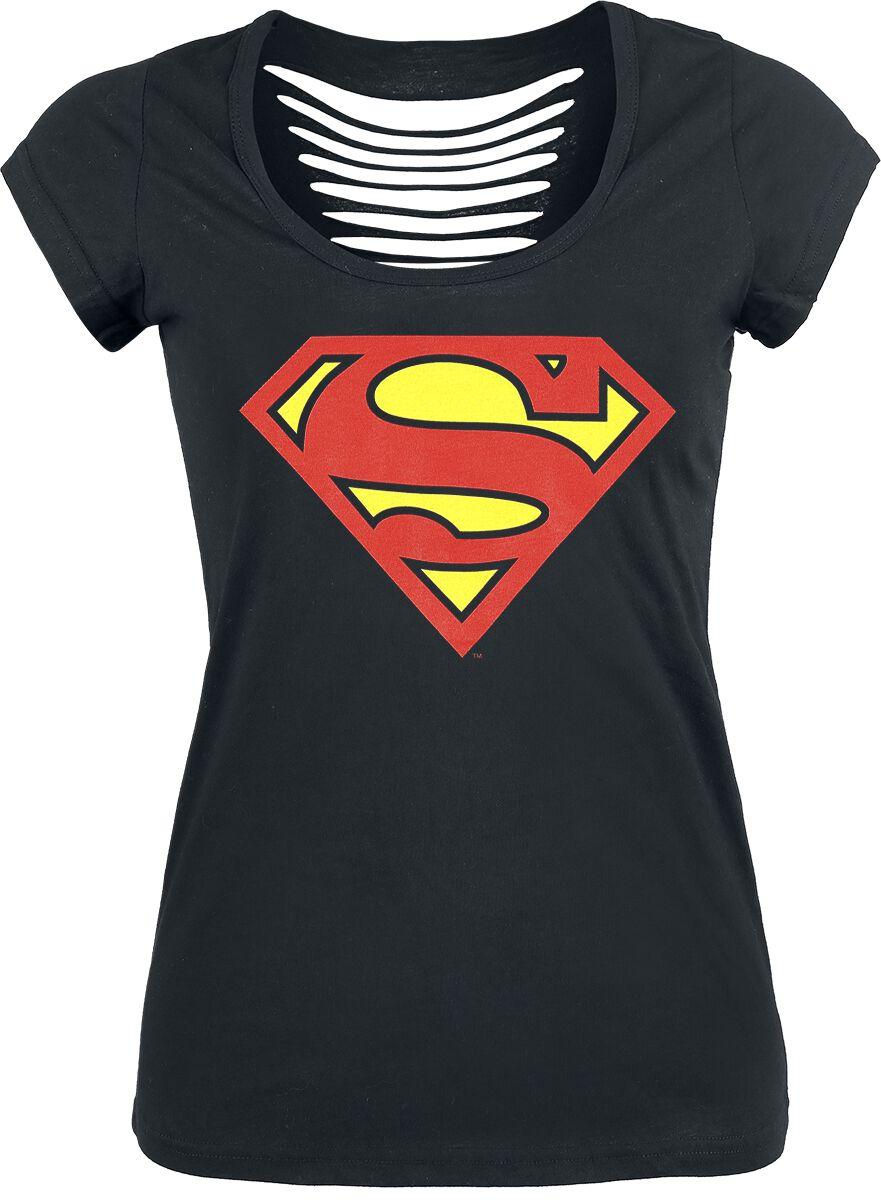 Merch dla Fanów - Koszulki - Koszulka damska Superman Logo Koszulka damska czarny - 376066