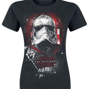 Star Wars Épisode 8 - Les Derniers Jedi - Portrait De Phasma T-shirt Femme noir