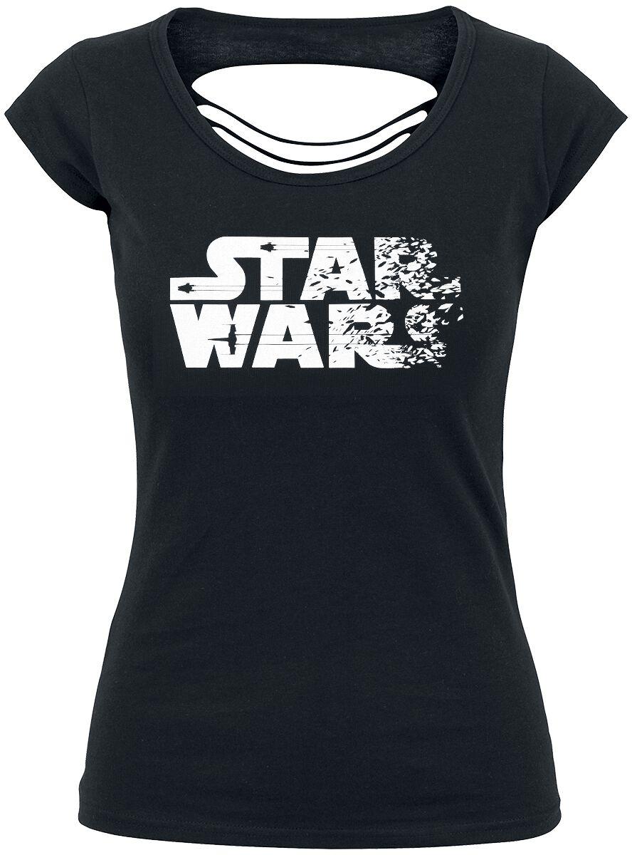 Image of   Star Wars Destroyed Logo Girlie trøje sort