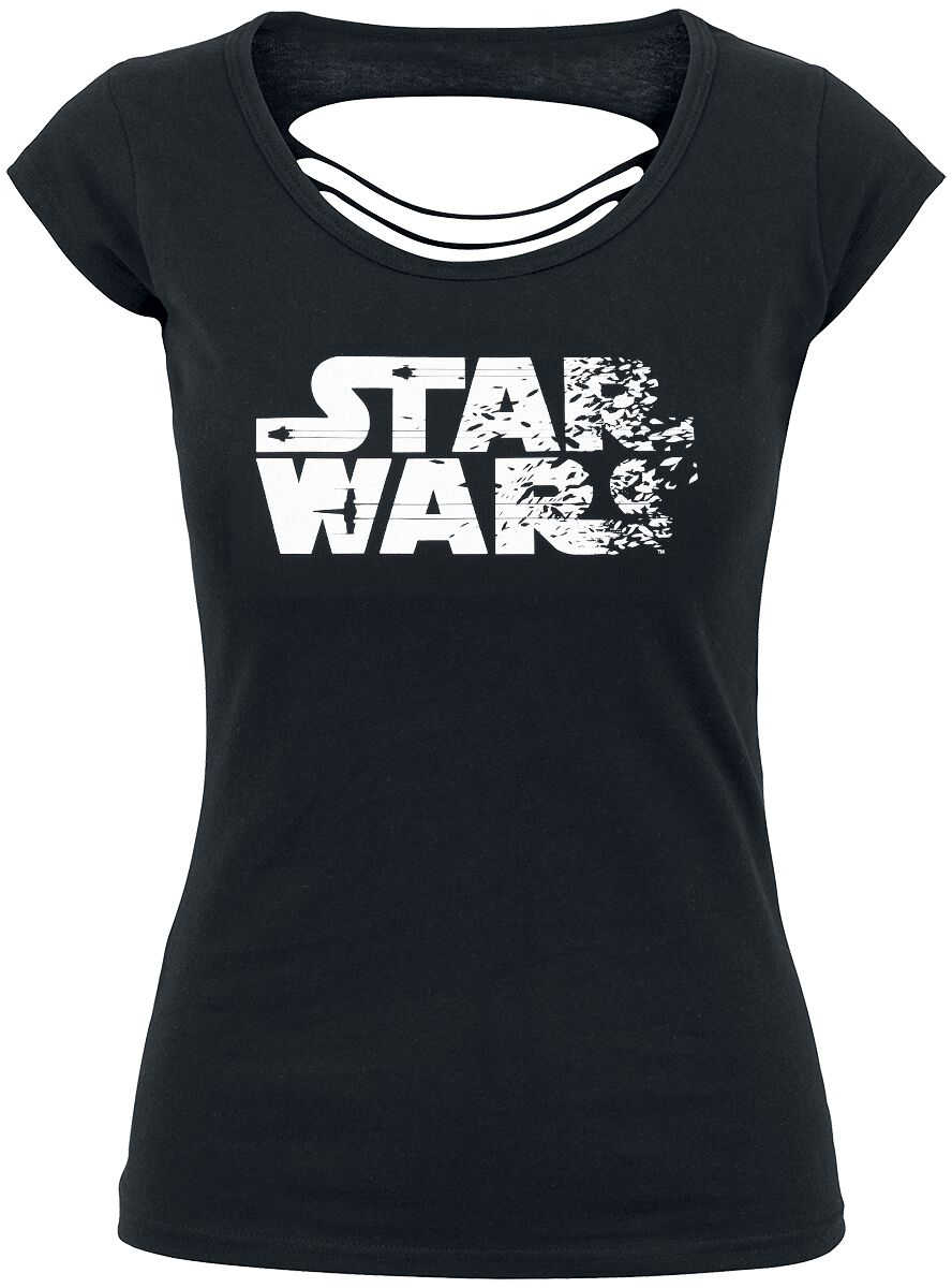 Star Wars Destroyed Logo Koszulka damska czarny