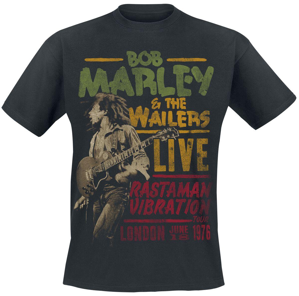 Zespoły - Koszulki - T-Shirt Bob Marley Rastaman Live T-Shirt czarny - 376109