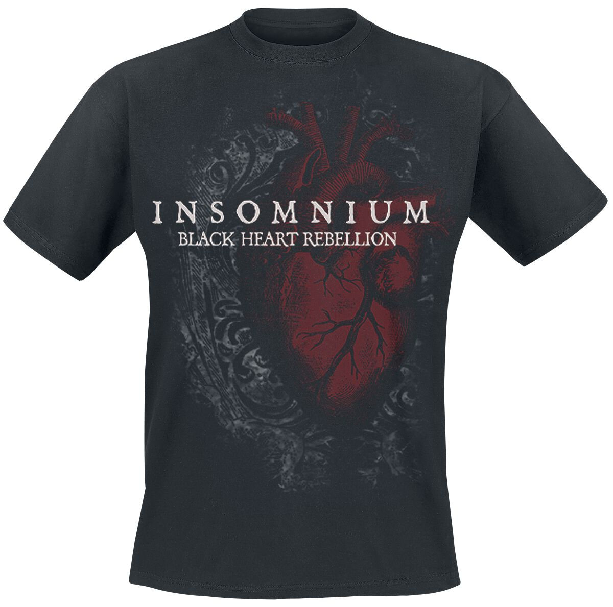 Image of   Insomnium Black Heart Rebellion T-Shirt sort