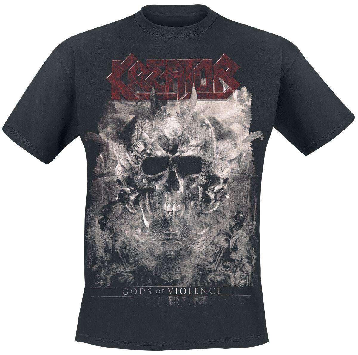 Zespoły - Koszulki - T-Shirt Kreator Gods Of Violence-Skulls T-Shirt czarny - 376150