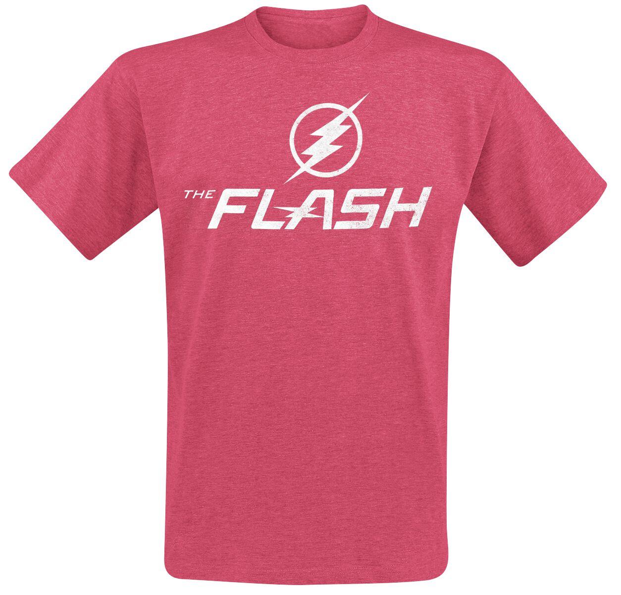 Merch dla Fanów - Koszulki - T-Shirt The Flash Logo T-Shirt odcienie czerwonego - 376156