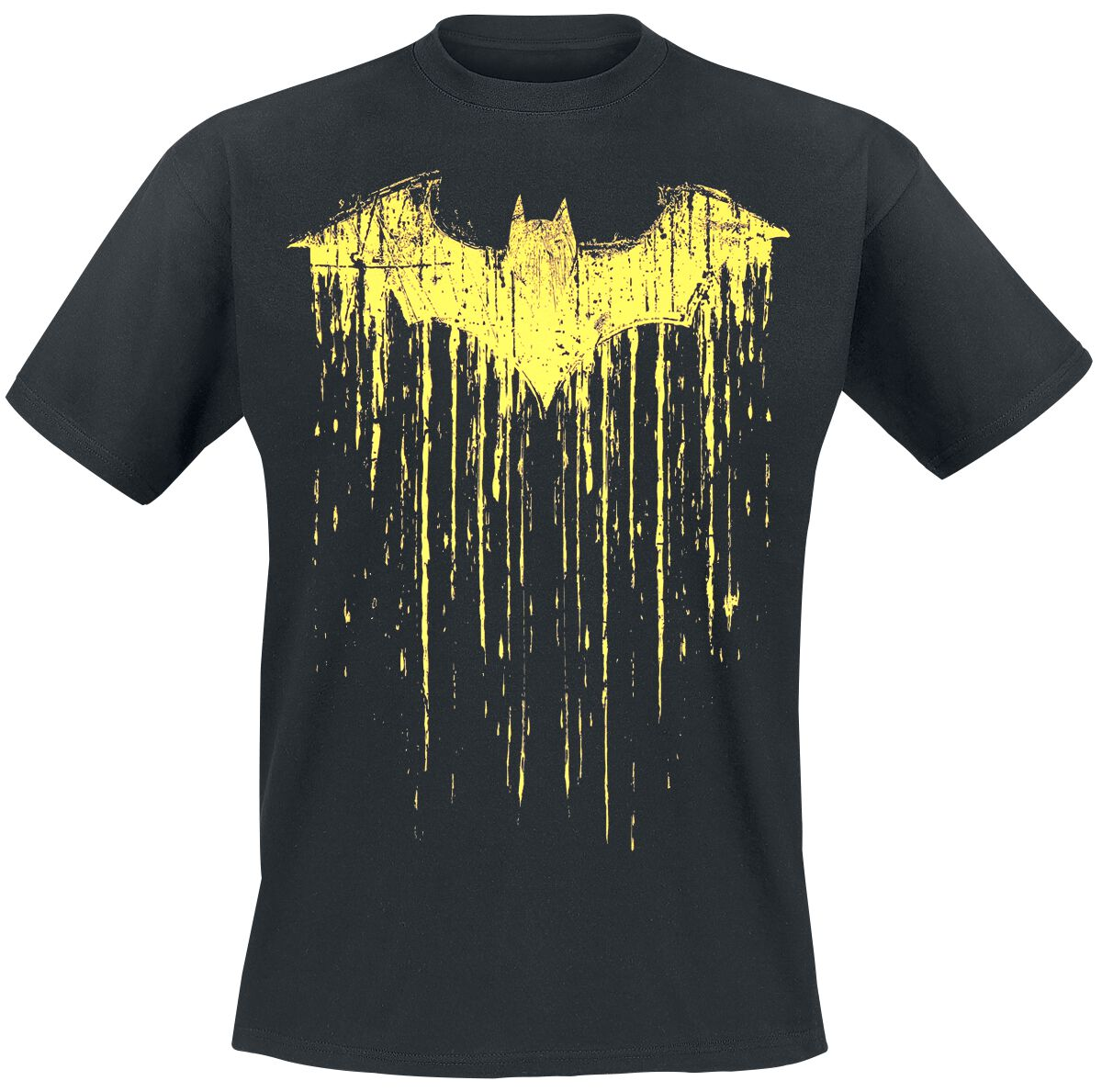 Image of   Batman Dripping Paint T-Shirt sort