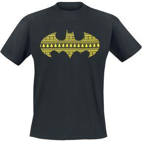 Batman Christmas Pattern T-shirt noir
