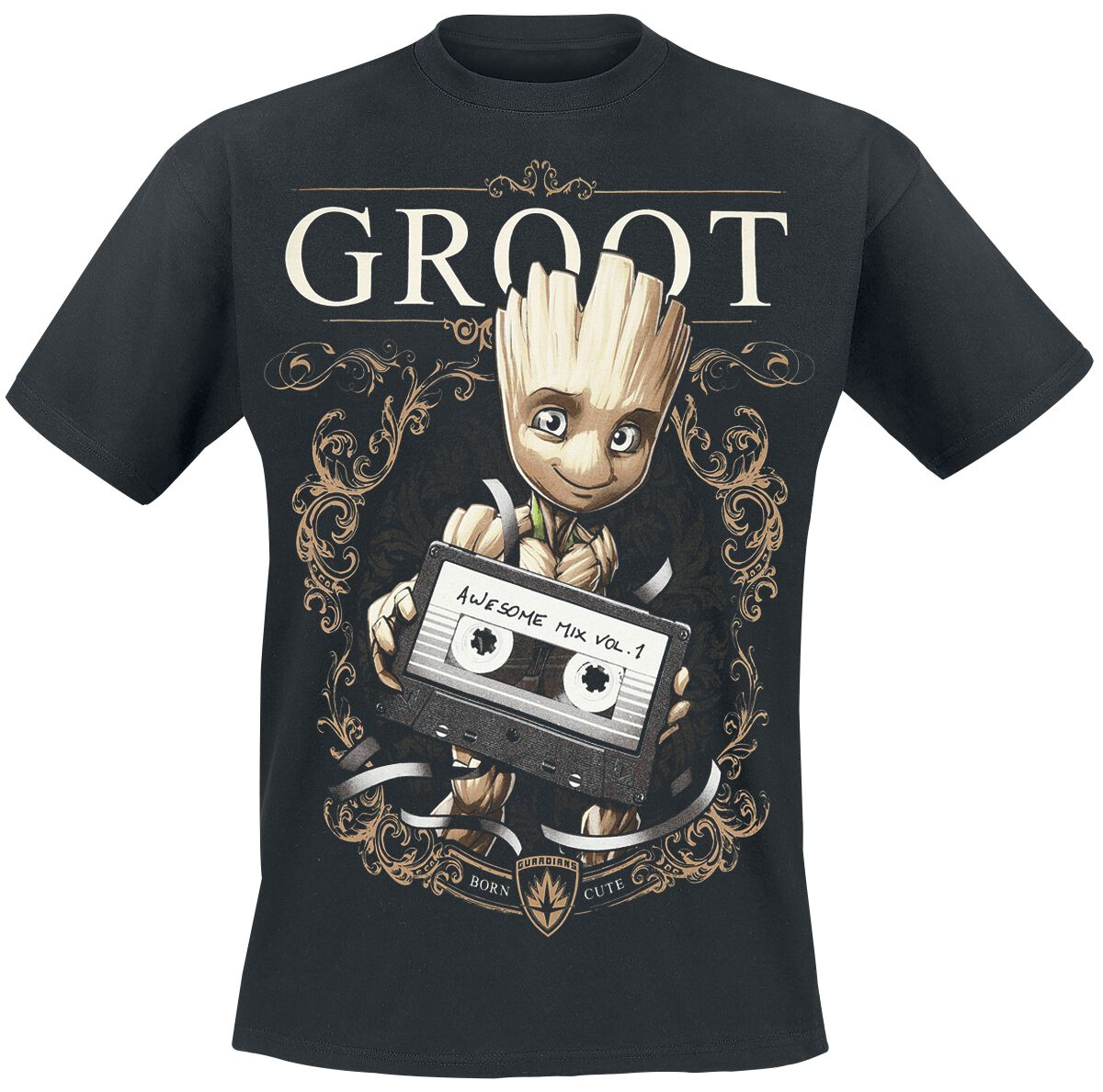 Image of   Guardians Of The Galaxy 2 - Groot Ornaments T-Shirt sort