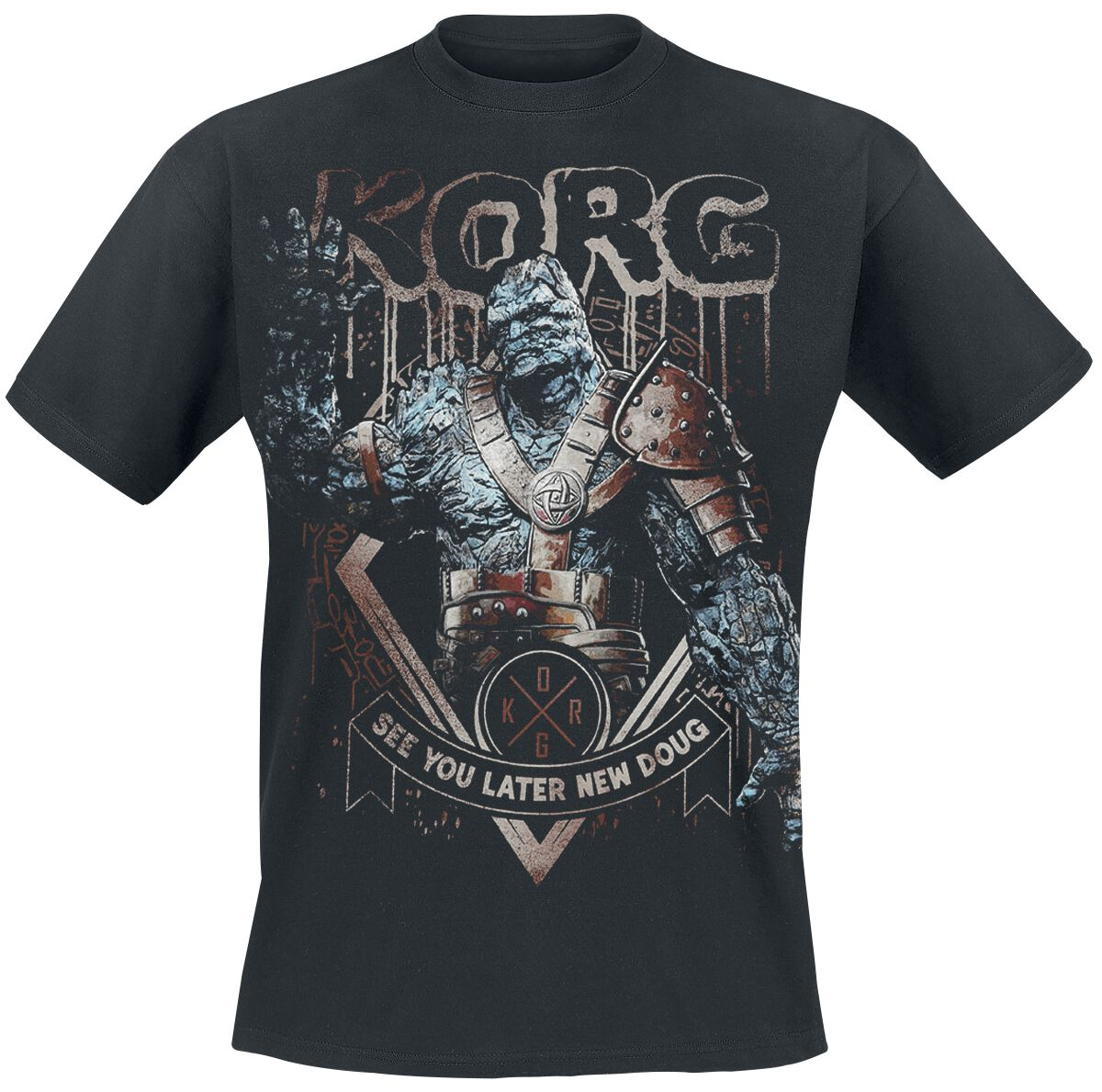 Image of   Thor Tag der Entscheidung - Korg - See You Later T-Shirt sort