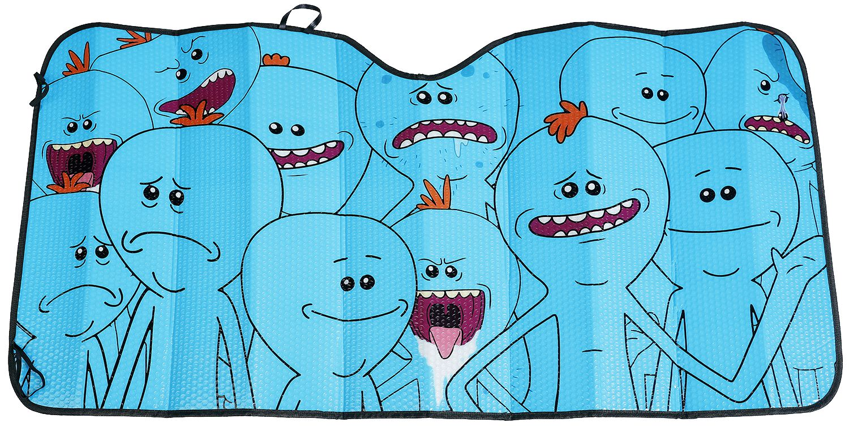 Image of   Rick And Morty Mr. Meeseeks - Sonnenblende Bildekoration multifarvet