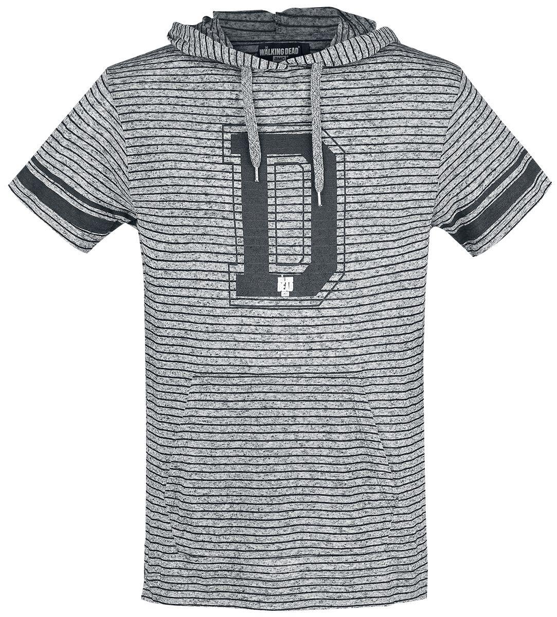 Image of   The Walking Dead Daryl Dixon T-Shirt blandet grå-sort