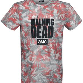 The Walking Dead Zombie Splatter Camo T-shirt multicolore