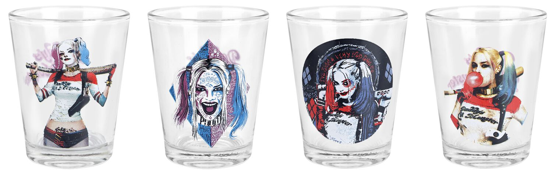 Image of   Suicide Squad Harley Quinn- Daddy's Little Monster Shotglas, sæt gennemsigtig