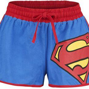 Superman Logo Short Femme bleu/rouge