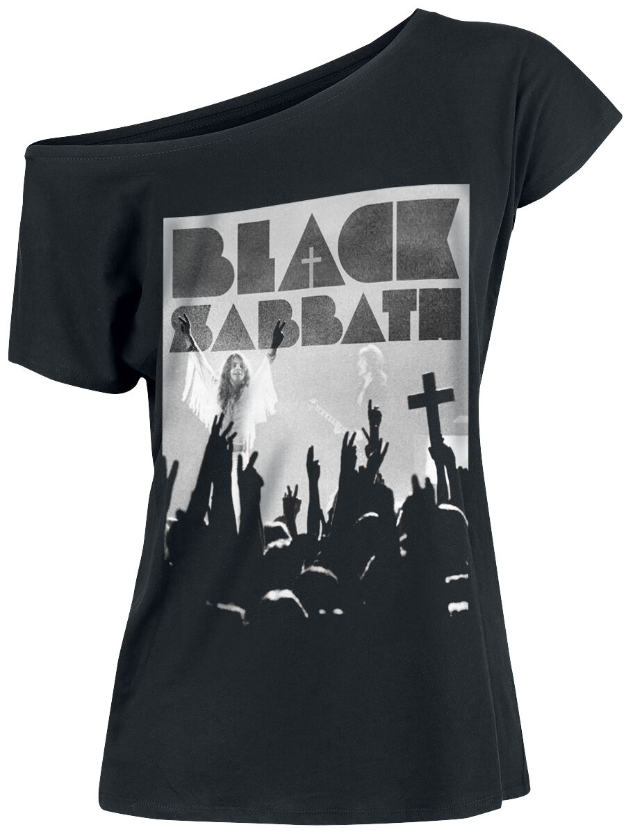 Zespoły - Koszulki - Koszulka damska Black Sabbath Victory Koszulka damska czarny - 376284