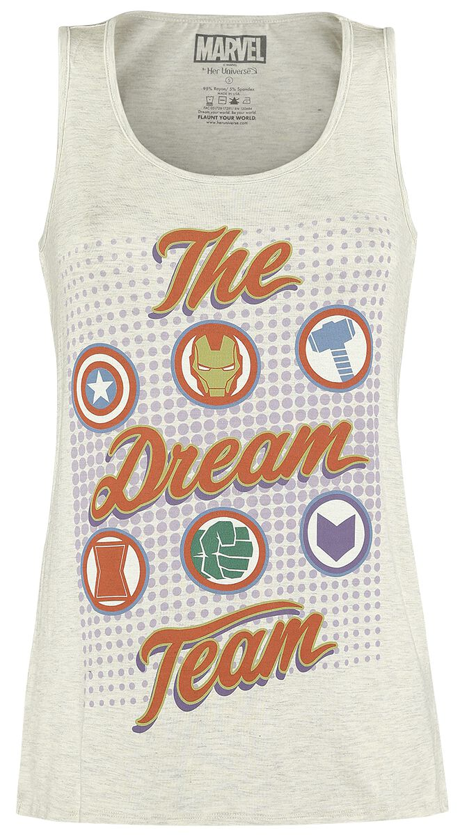 Image of   Avengers The Dream Team Girlie top blakket beige