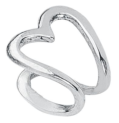 Ohrringe für Frauen - Steel Basicline® Heart Ohrklemme silberfarben  - Onlineshop EMP