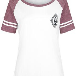 Alice Au Pays Des Merveilles A. Kingsleigh 51 T-shirt Femme blanc/bordeaux chiné