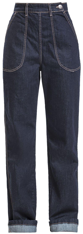 Hosen für Frauen - Hell Bunny Weston Denim Jeans Girl Jeans navy  - Onlineshop EMP