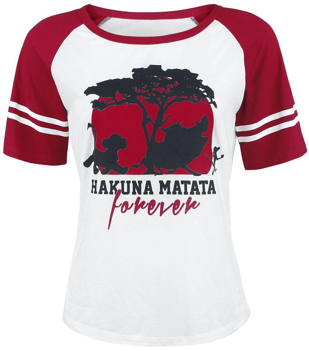 The Lion King Forever Koszulka damska biały/czerwony