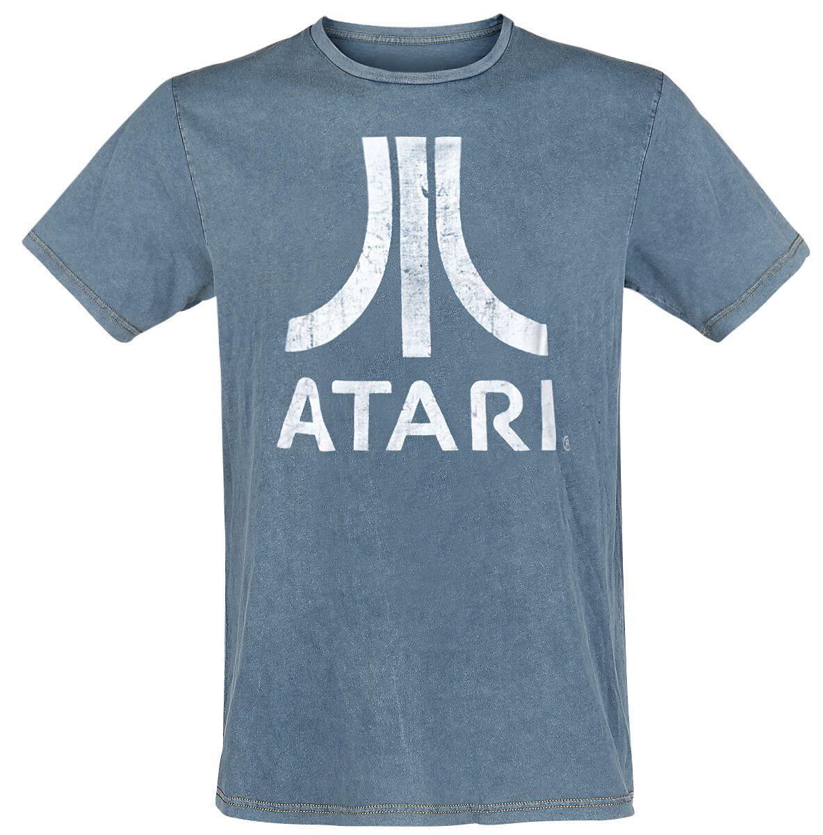 Merch dla Fanów - Koszulki - T-Shirt Atari Logo T-Shirt niebieski - 376403