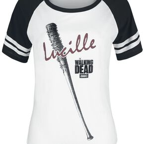 The Walking Dead Lucille T-shirt Femme blanc/noir