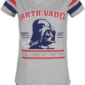 Star Wars Dark Vador T-shirt Femme gris chiné