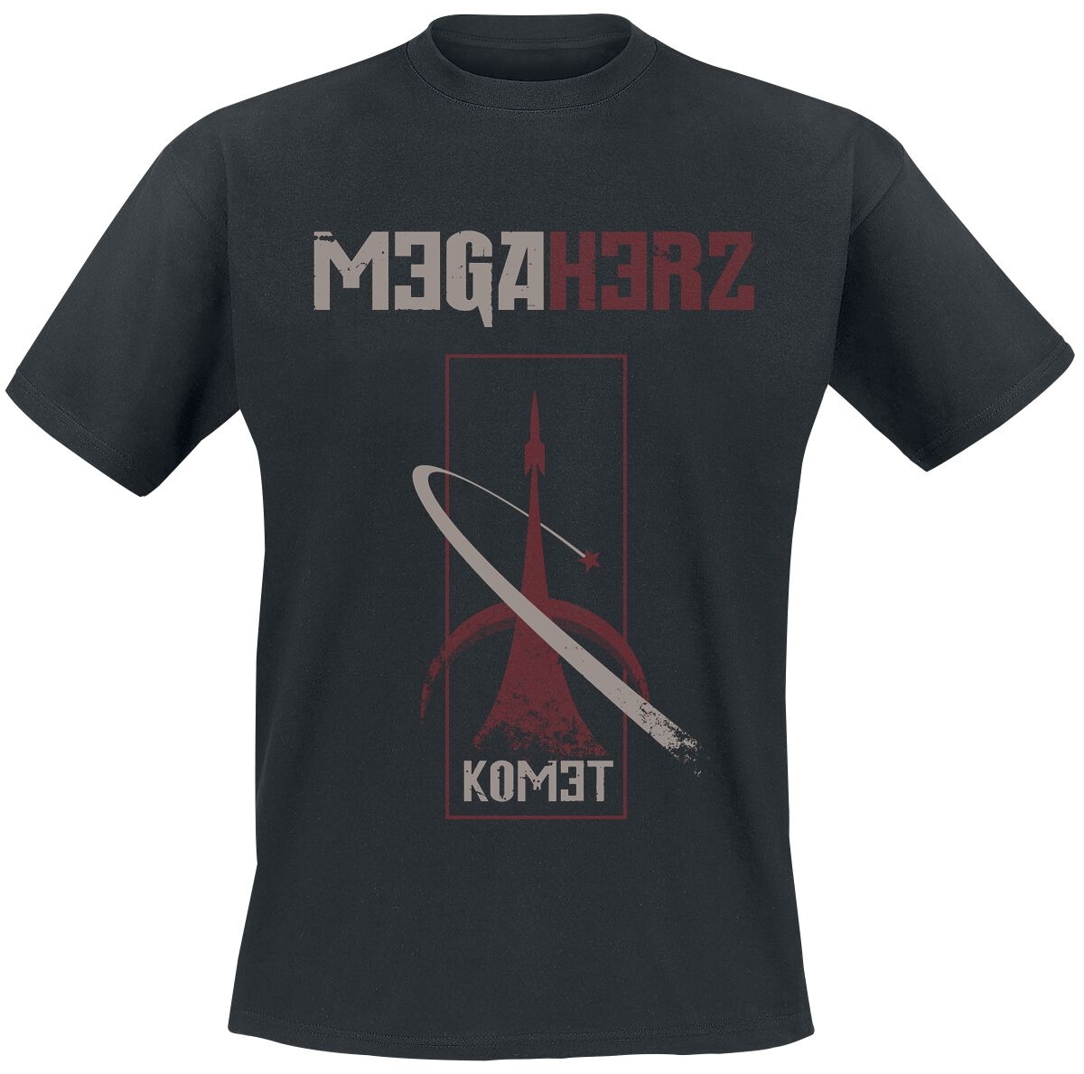 Image of   Megaherz Komet - Rocket T-Shirt sort