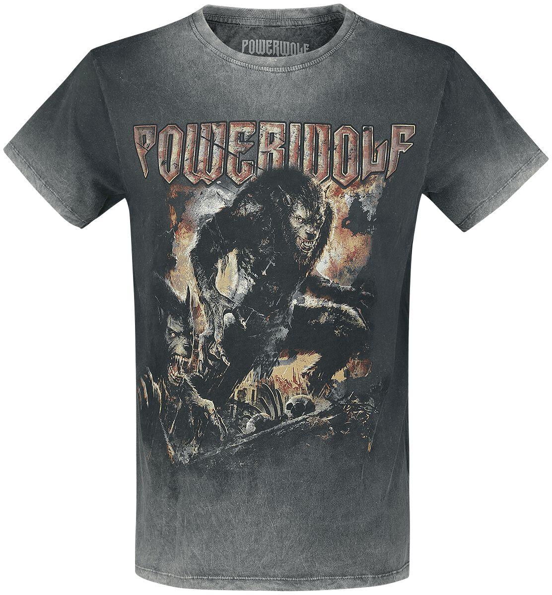 Image of   Powerwolf When The Moon Shines Red T-Shirt mørk grå