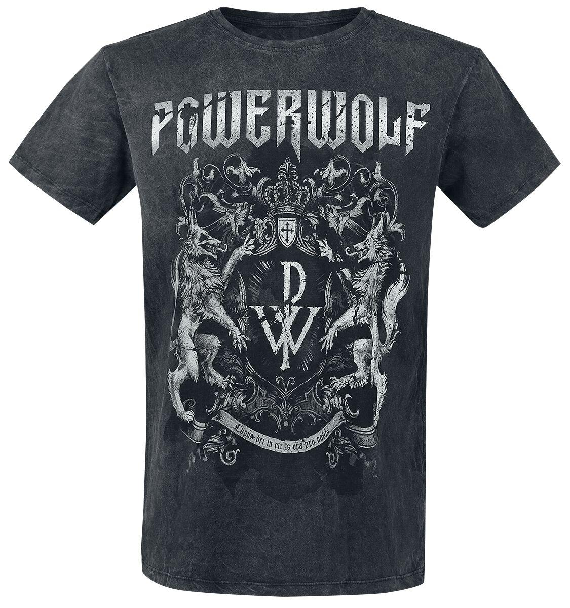 Image of   Powerwolf Metal Is Religion - Crest T-Shirt sort