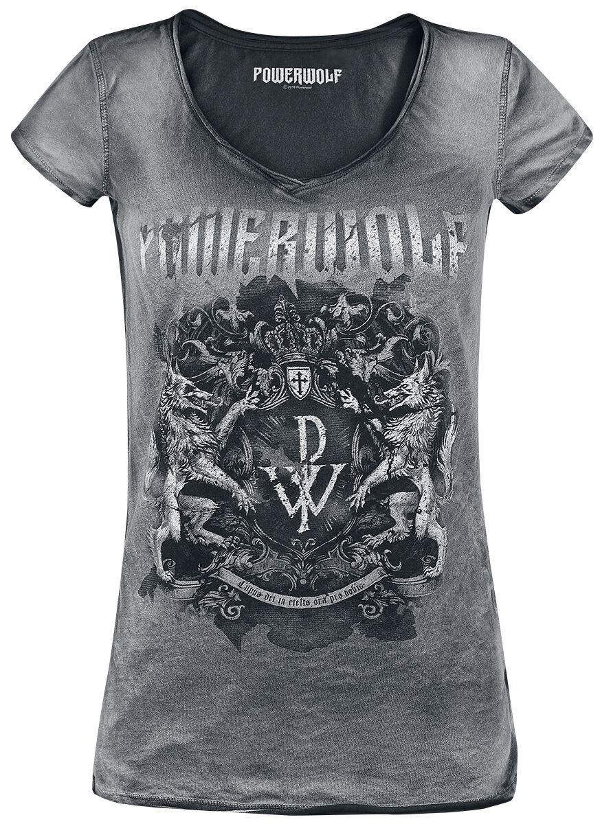 Image of   Powerwolf Metal Is Religion - Crest Girlie trøje sort