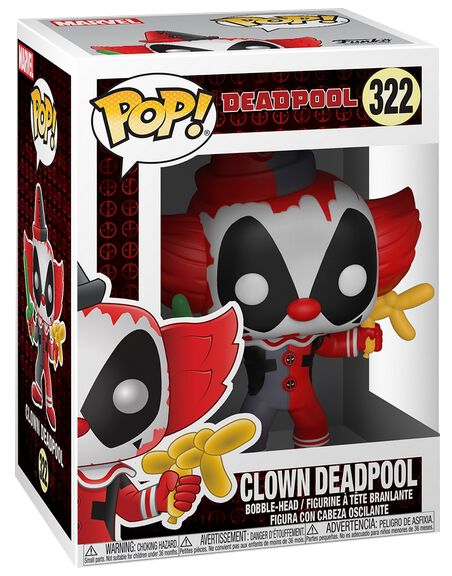 Image of   Deadpool Clown Deadpool Vinyl Figure 322 Samlefigur Standard
