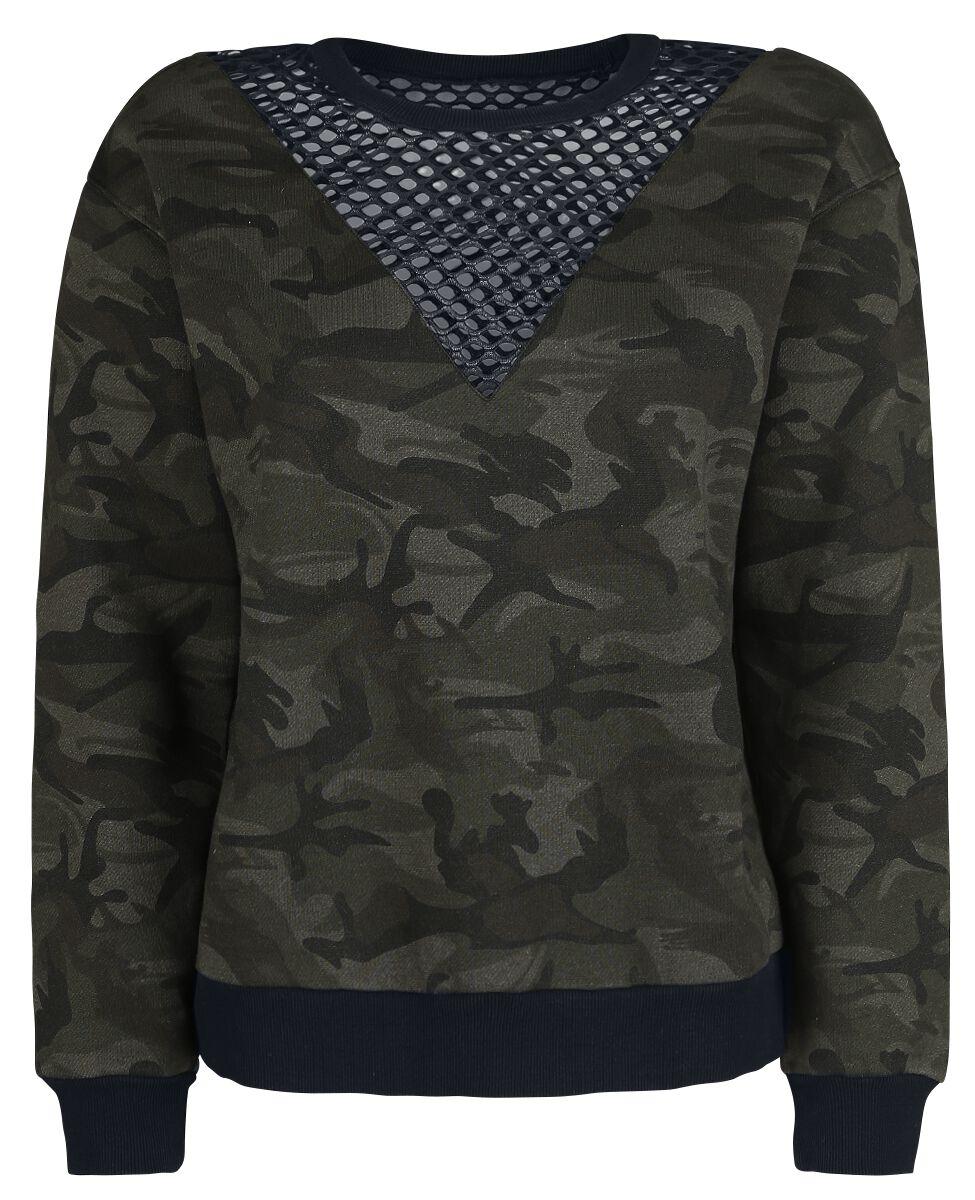 Image of   Fashion Victim Camo Sweatshirt Girlie sweatshirt camouflage