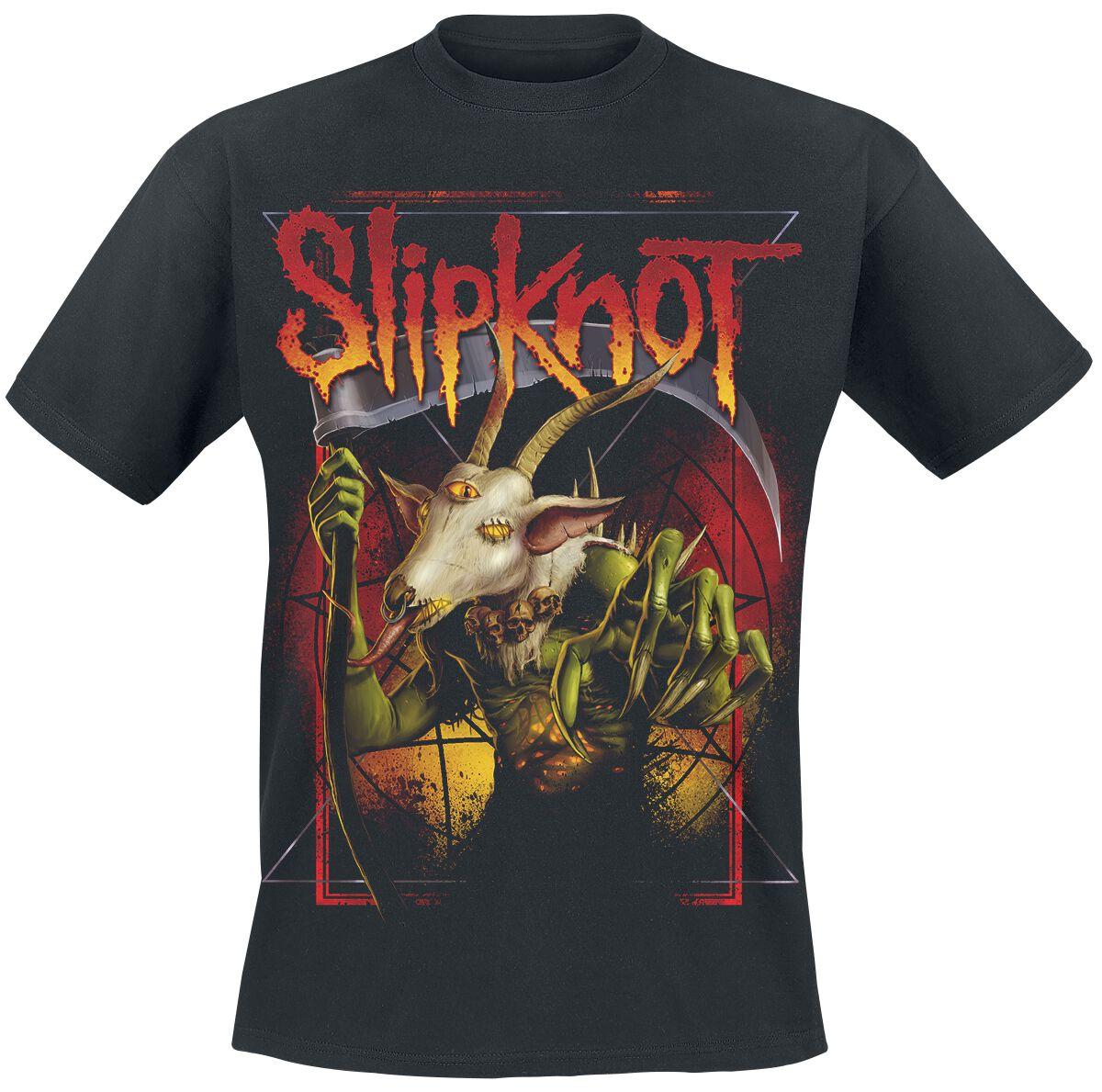 Image of   Slipknot Goat Reaper T-Shirt sort