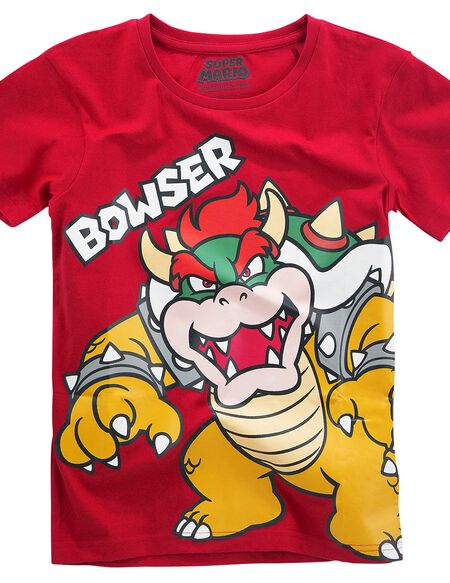 Super Mario Bowser T-shirt Enfant rouge