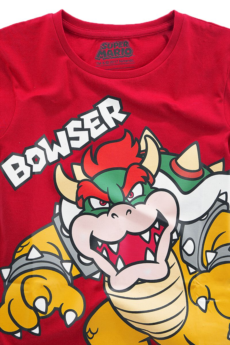 Image of   Super Mario Bowser Børnetrøje rød
