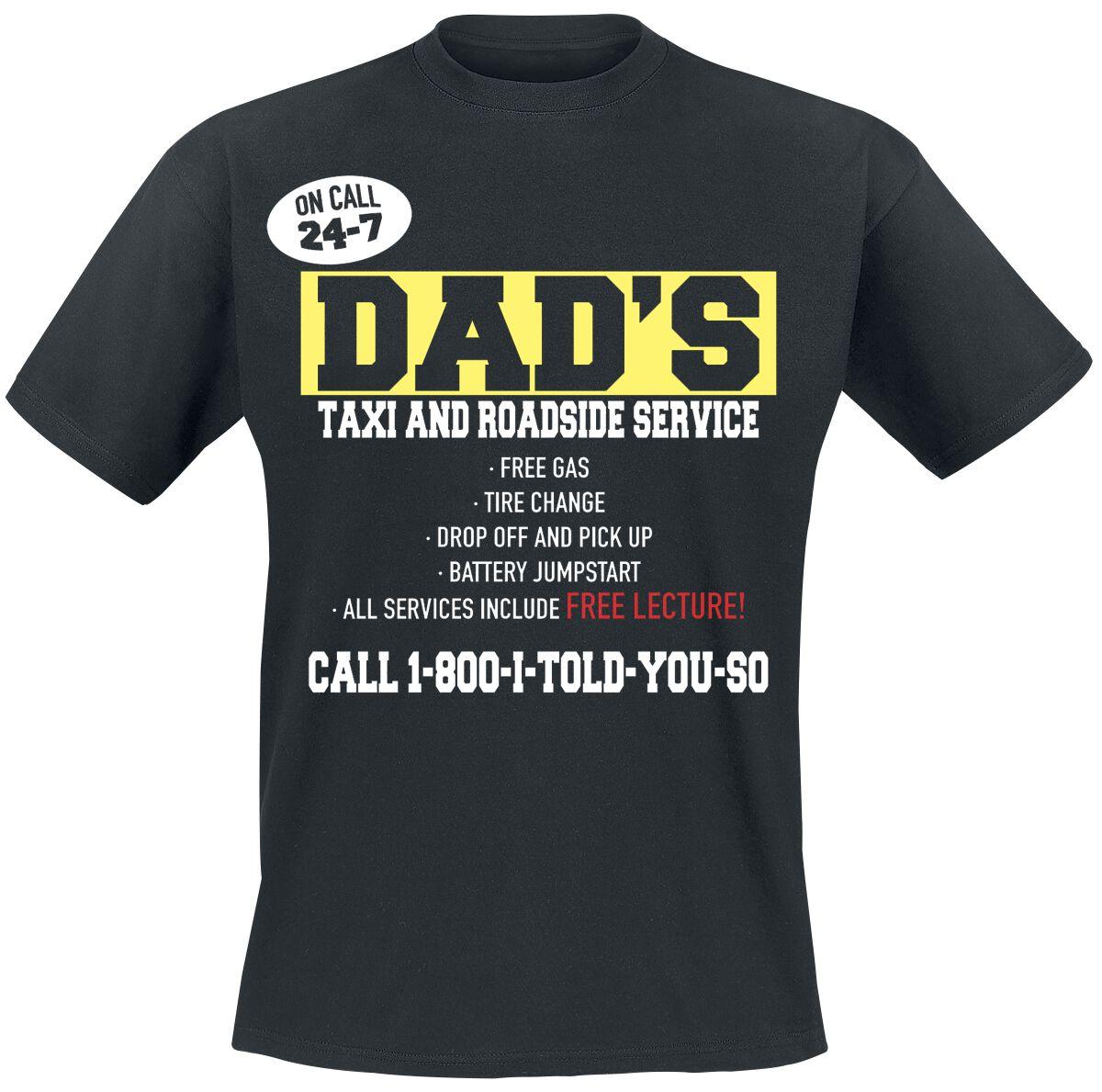Fun Shirts - Koszulki - T-Shirt Dad`s Taxi And Roadside Service T-Shirt czarny - 376575
