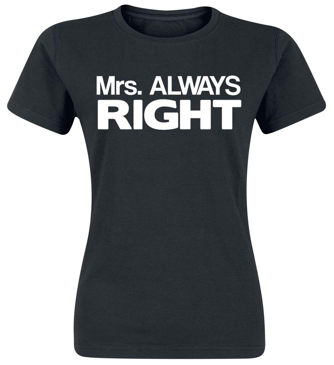Fun Shirts - Koszulki - Koszulka damska Family Mrs. Always Right Koszulka damska czarny - 376595