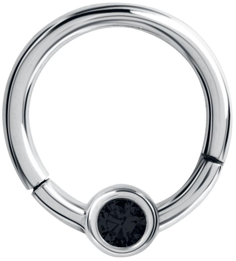 Steel Basicline® Crystal Clicker Piercing silbe...