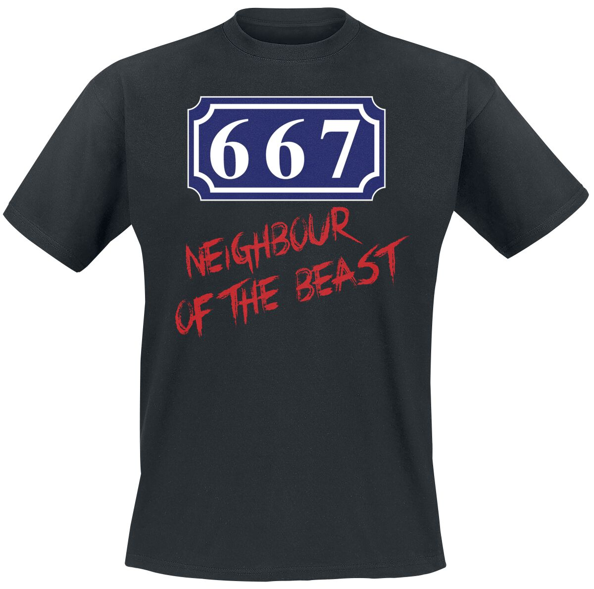 Image of   667 Neighbour Of The Beast T-Shirt sort