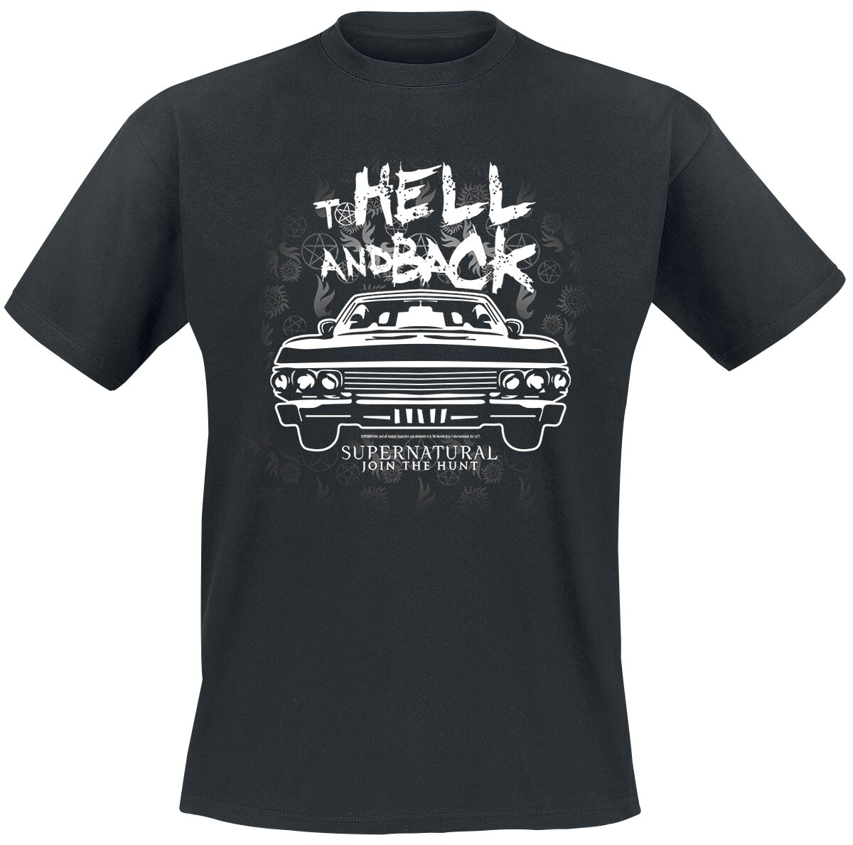 Image of   Supernatural To Hell And Back T-Shirt sort
