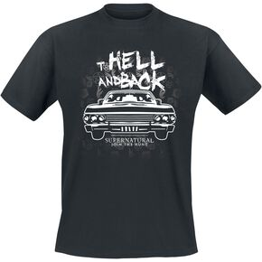Supernatural To Hell And Back T-shirt noir