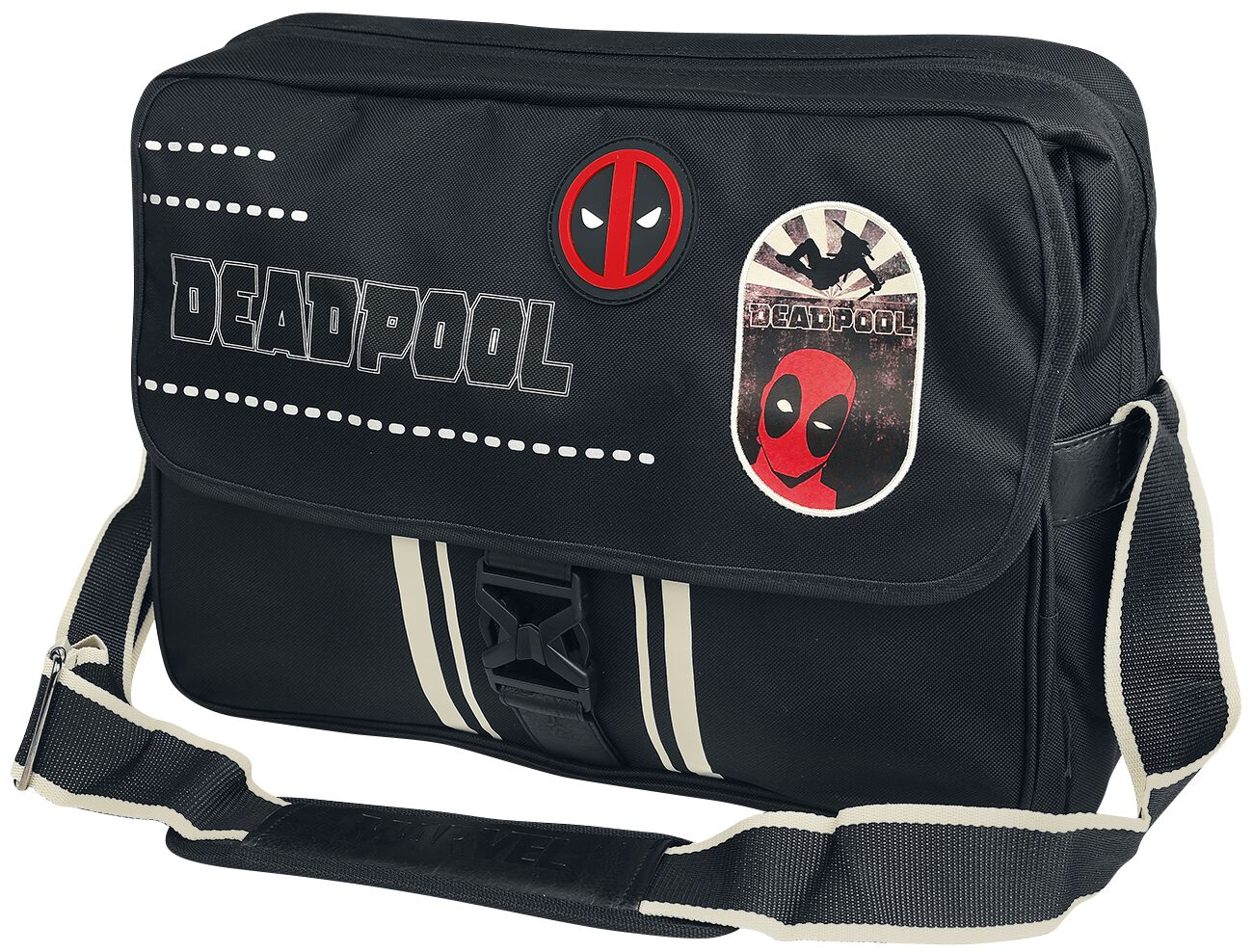 Image of   Deadpool Logo Budtaske sort