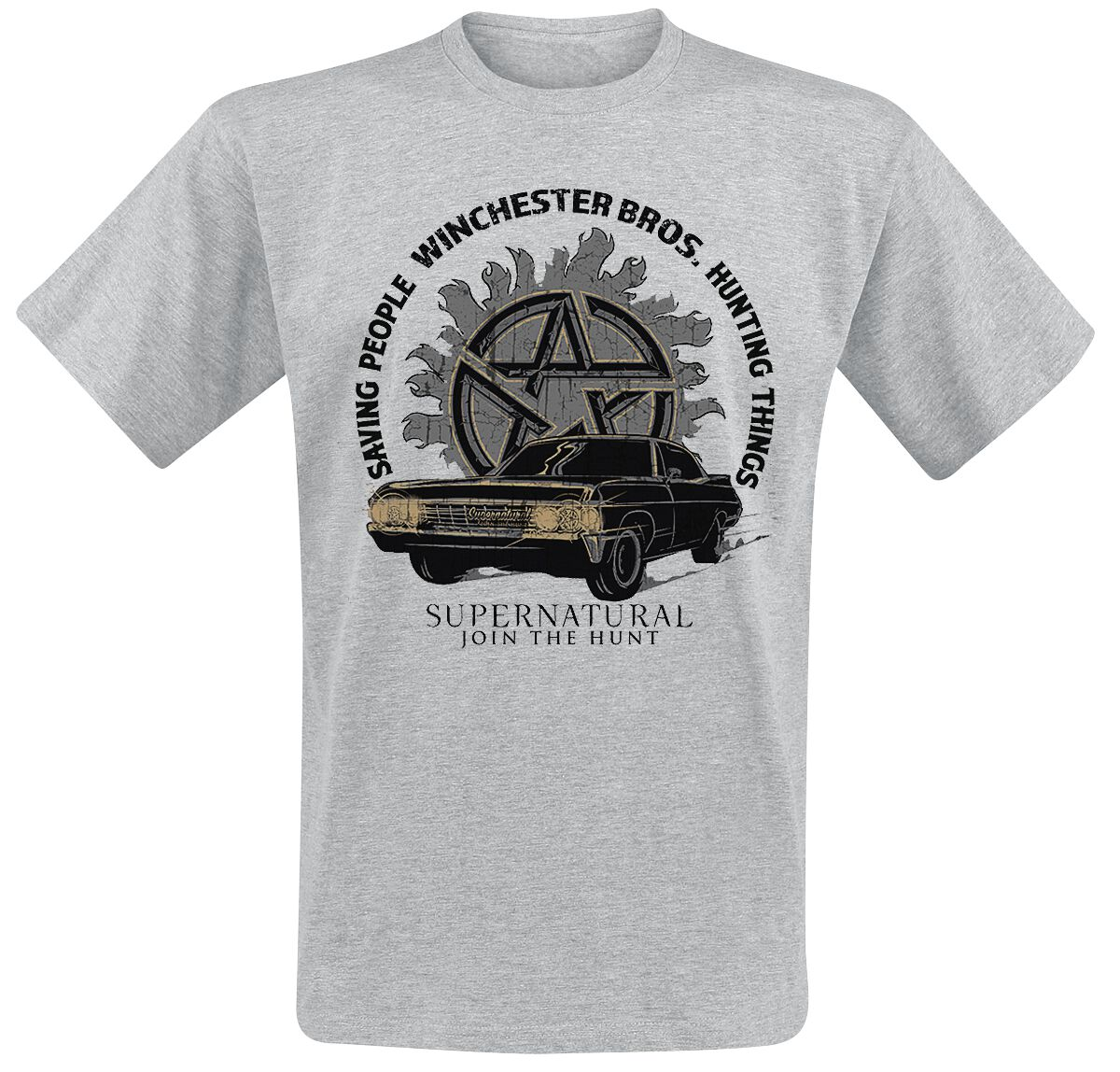 Image of   Supernatural Hunting Things T-Shirt grålig