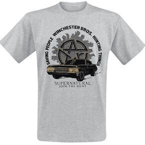 Supernatural Hunting Things T-shirt gris chiné