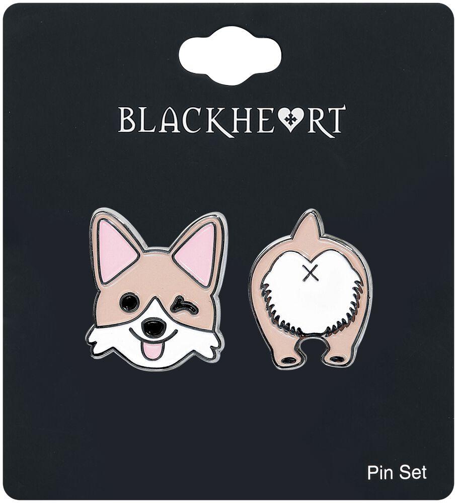 Image of   Blackheart Dog Pin Set Nålesæt Standard
